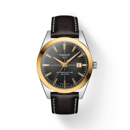 TISSOT GENTLEMAN POWERMATIC 80 SILICIUM SOLID 18K GOLD BEZEL