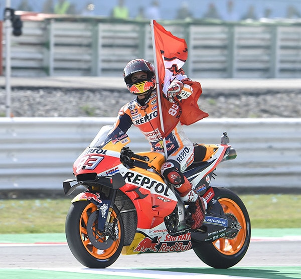 CONGRATULATION TO MARC MÁRQUEZ WHO WINS THE SAN MARINO GRAND PRIX
