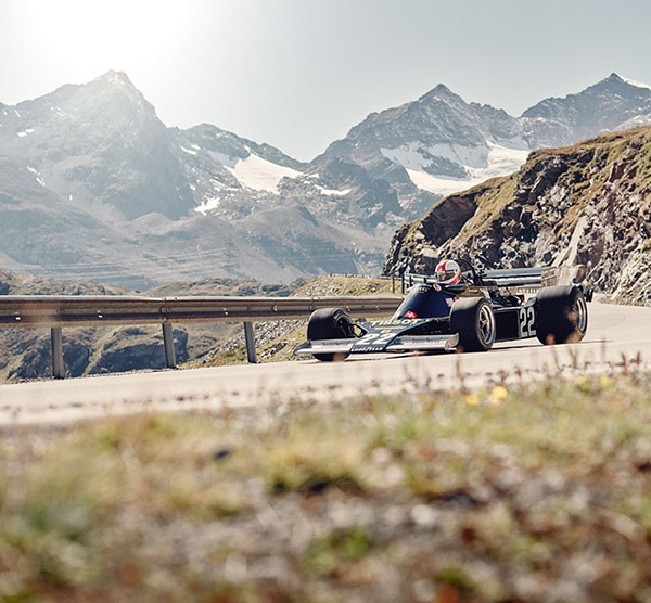 THE TISSOT F1 ENSIGN FROM 1973 CONQUERS THE BERNINA PASS AND WINS THE BERNINA GRAN TURISMO 2019