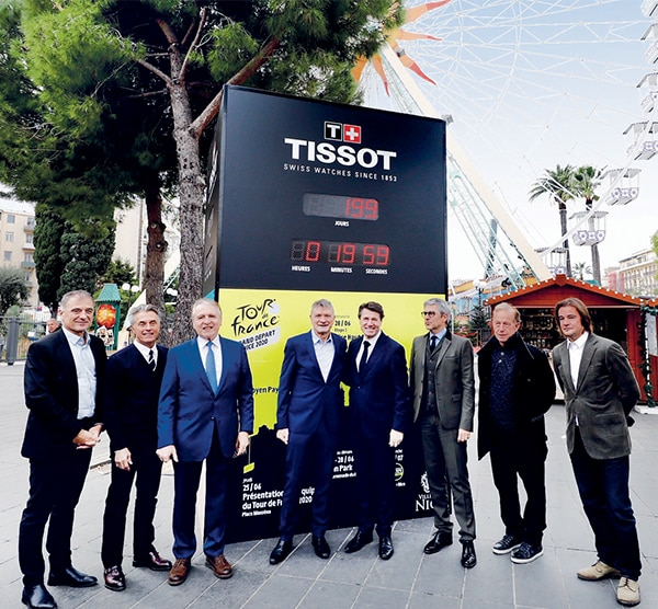 Een aftelklok in de French Riviera voor het begin van de Tour de France 2020
